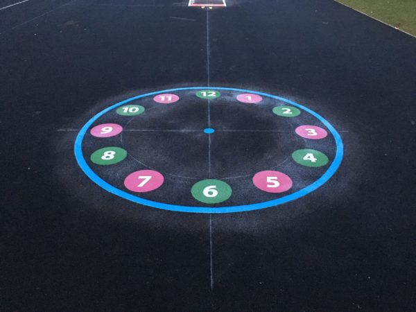 12-Hour-Clock-Playground-Marking