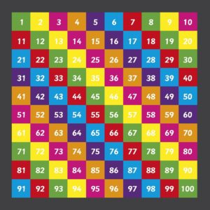 Number Grid 1-100 Solid Playground Marking