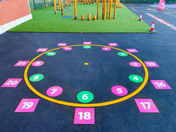 24 Hour Clock Playground Marking