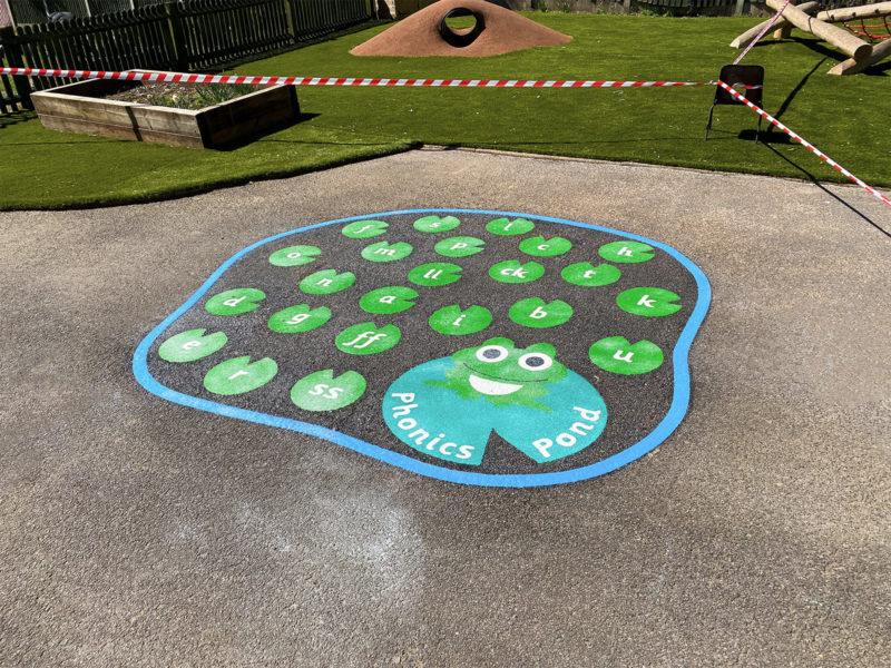 Bedmond-Academy-Phonics-Pond-Playground-Marking