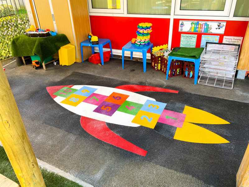 Bishopton-Primary-School-Rocket-Hopscotch-Playground-Marking