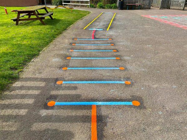 Briary-Primary-School-Hurdles-Playground-Marking