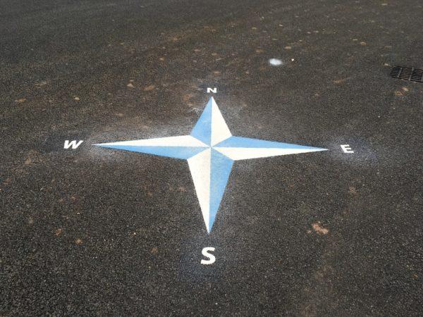 Compass-4-point-playground-marking