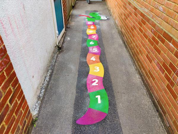 Eastwick-Infant-School-1-10-Snake-Playground-Marking