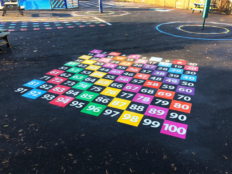 Every-Other-Number-Grid-Playground-Marking
