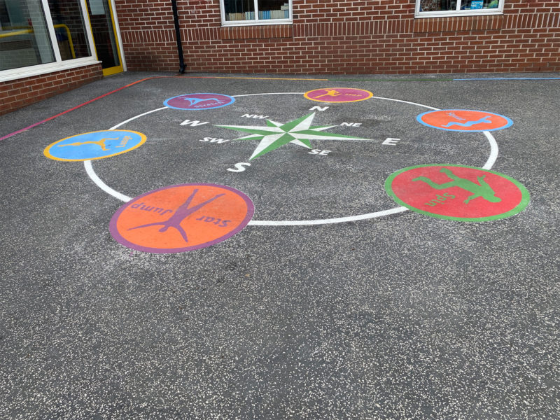 Firfield-Primary-School-Compass-Active-Spot-Circuit-Playground-Marking