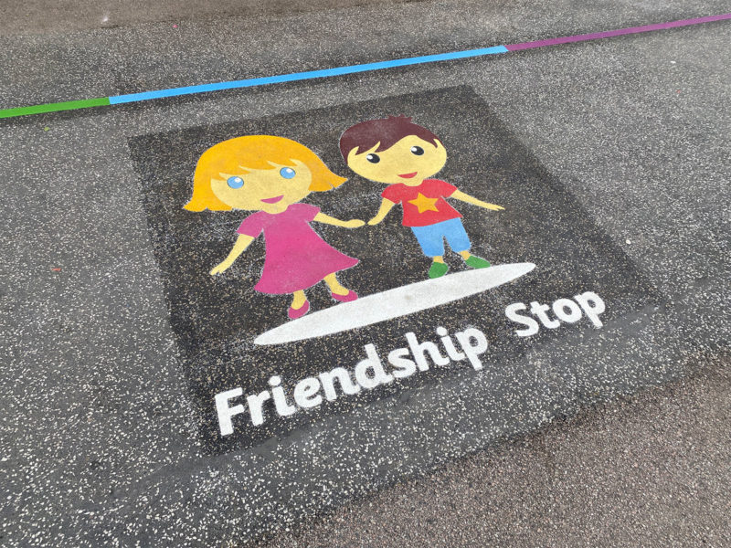 Firfield-Primary-School-Friendship-Stop-Playground-Marking