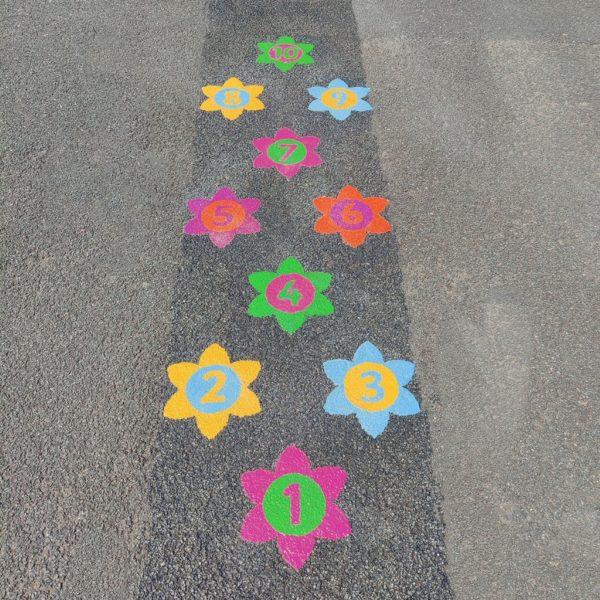 Flower-Twin-Hopscotch-Playground-Marking