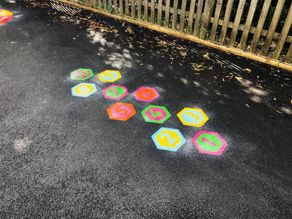 Hexagon-Twin-Hopscotch-Playground-Marking