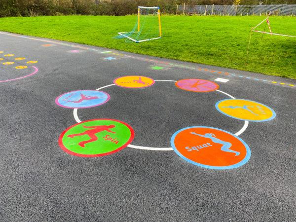 Holy-Spirit-Catholic-School-Active-Spot-Circuit-Playground-Marking-Cheshire