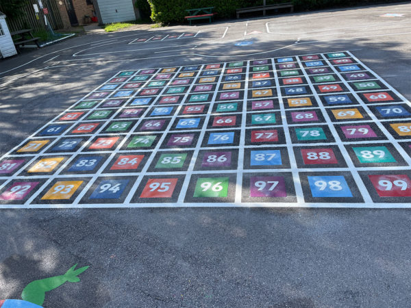 Hook-With-Warsash-C-of-E-Number-Grid-1-100-Solid-Outline-Combined-Playground-Marking
