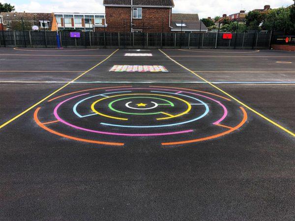 Circular-Maze-Playground-Marking