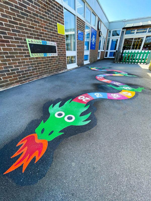 Locks-Heath-Infants-School-0-20-Dragon-Playground-Marking