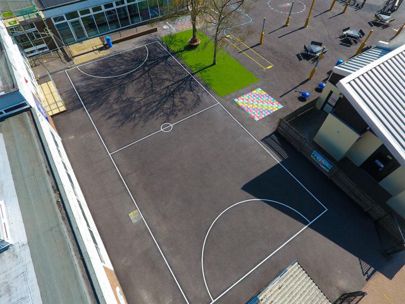 Locks-Heath-Infants-School-Football-Court-Playground-Marking