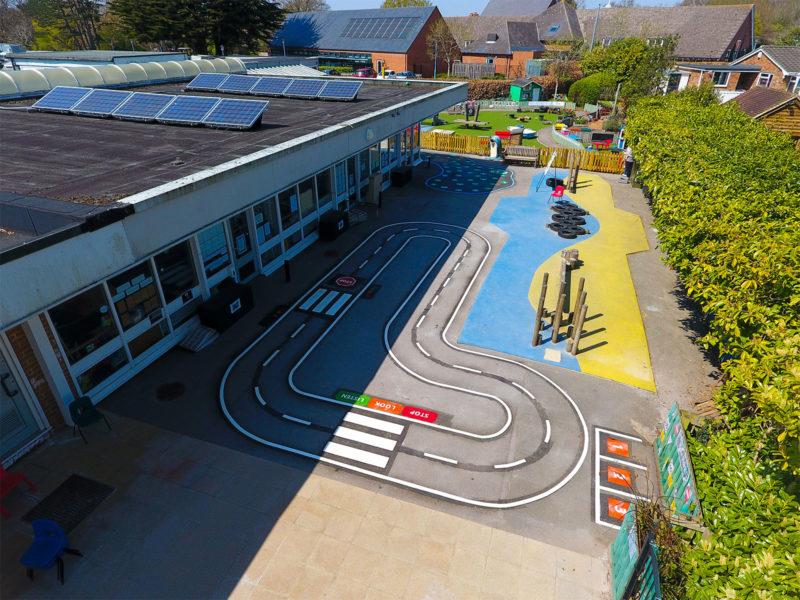 Locks-Heath-Infants-School-Roadway-Playground-Marking