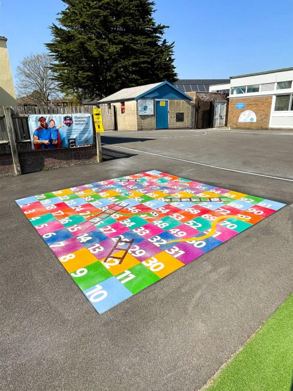 Locks-Heath-Infants-School-Snakes-and-Ladders-Playground-Marking