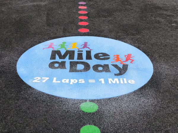 Playground Marking Mile a Day Logo