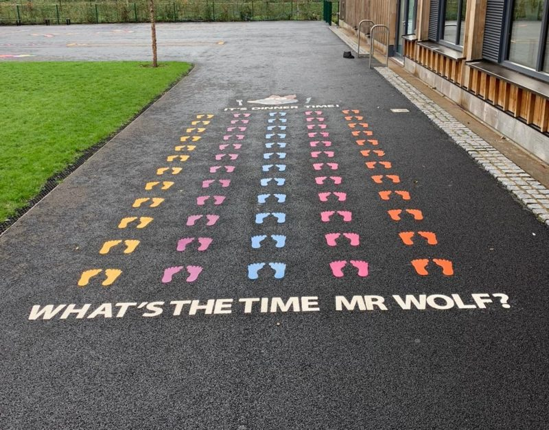 Mr-Wolf-with-Footprints-Playground-Marking
