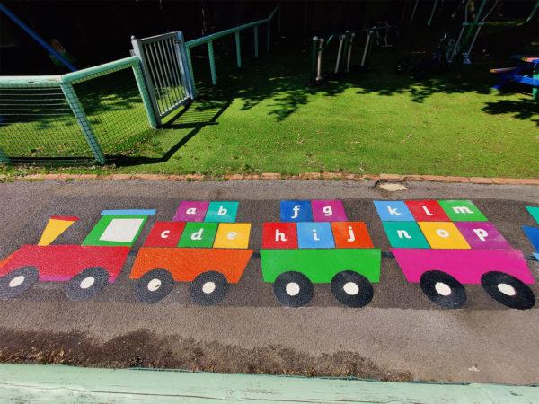 Oakleigh-School-A-Z-Train-Playground-Marking (1)