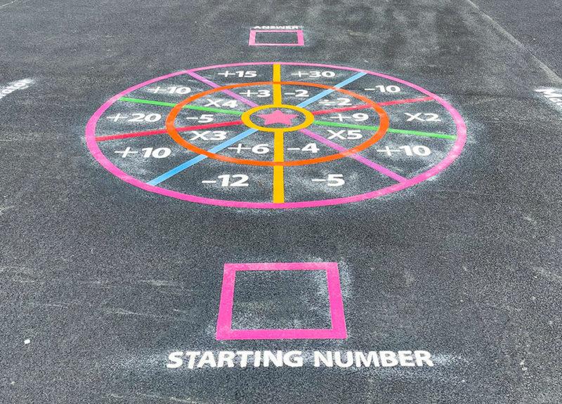 Perton-Primary-Academy-Maths-Target-Playground-Marking