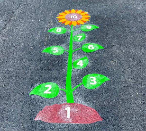 Perton-Primary-Academy-Sunflower-Hopscotch-Playground-Marking (1)