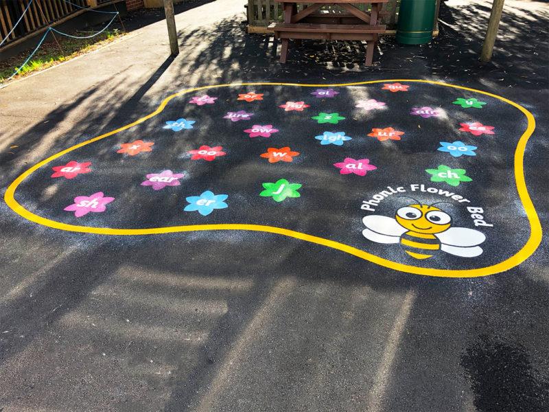 Phonics-Flower-Bed-Playground-Marking