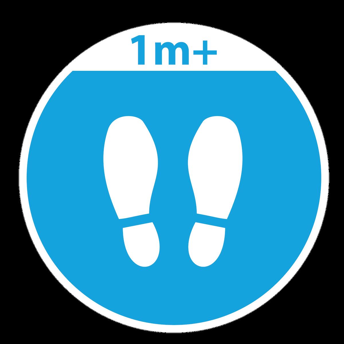 Playground Marking Blue Footprints Social Distance Marker