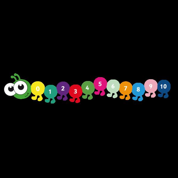 Playground Marking Caterpillar 1-10