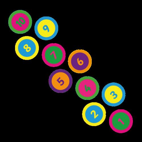 Playground-Marking-Circle-Twin-Hopscotch-400mm