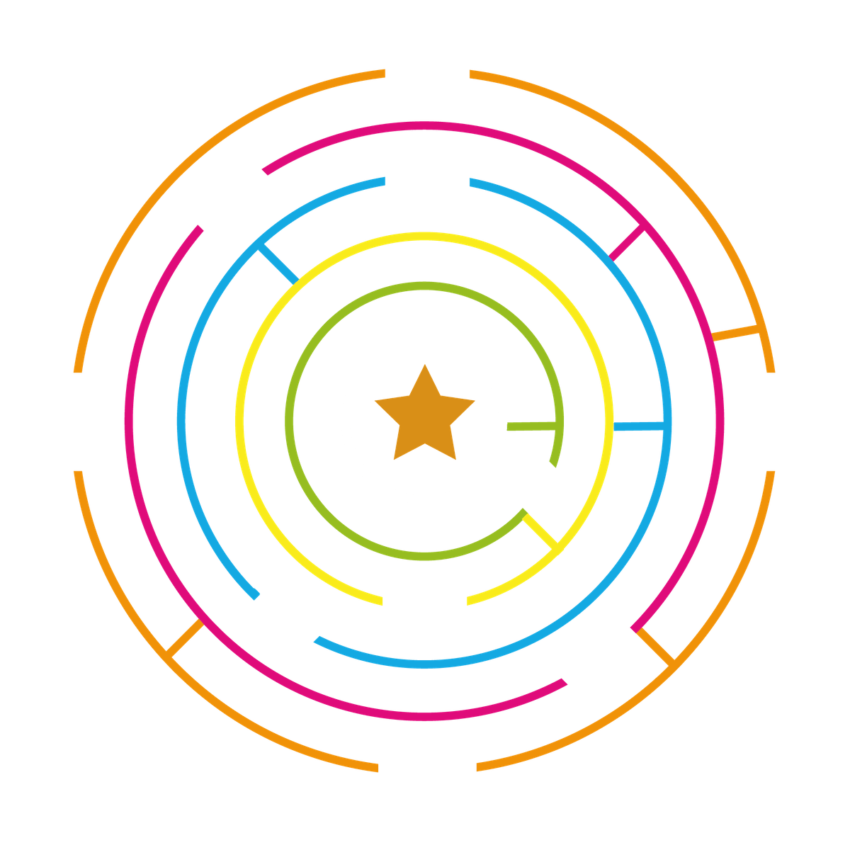 Playground Marking Circular Maze