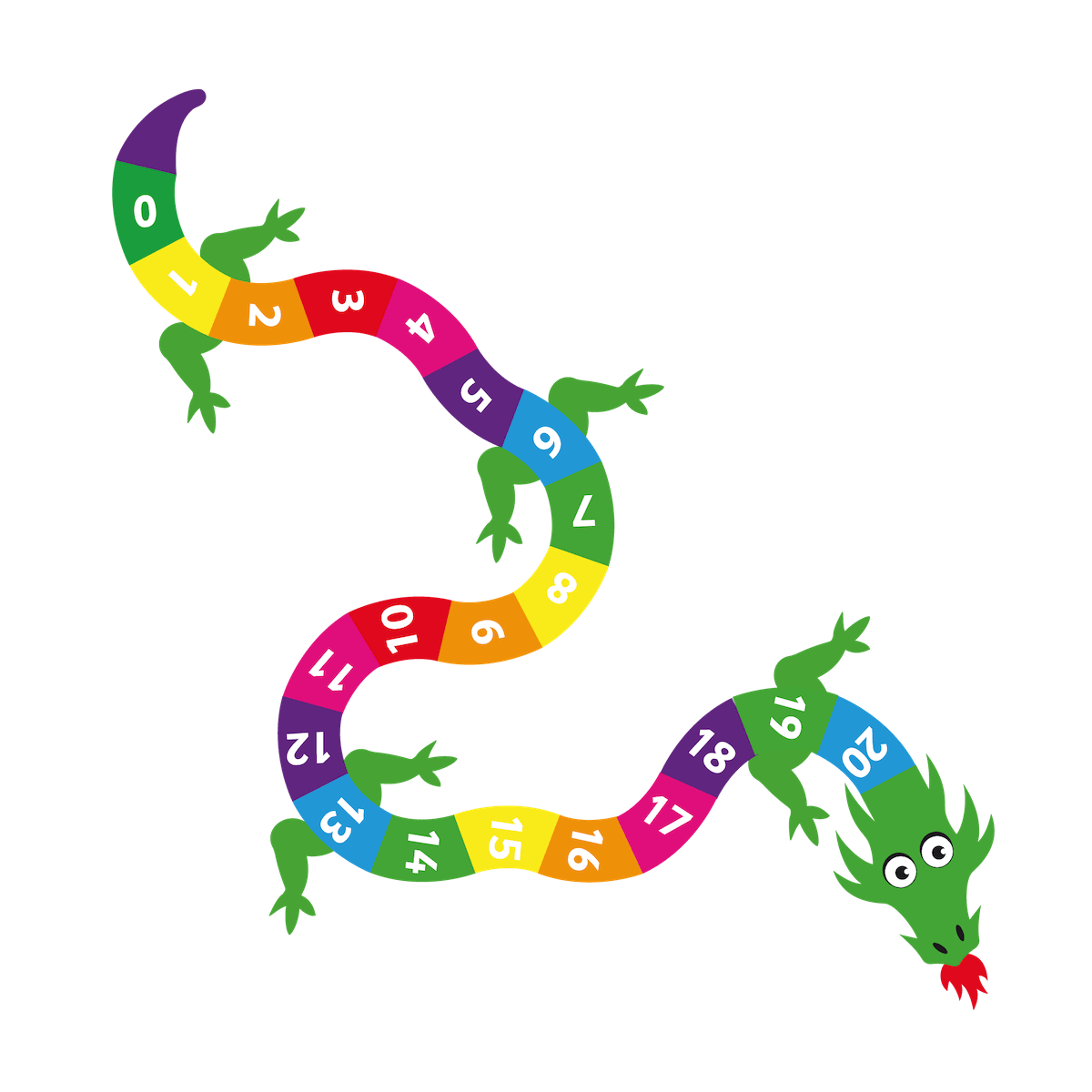 Playground Marking Dragon 0-20