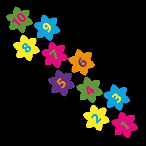 Playground-Marking-Flower-Hopscotch