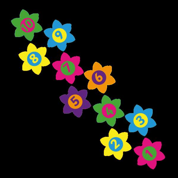 Playground-Marking-Flower-Twin-Hopscotch-400mm