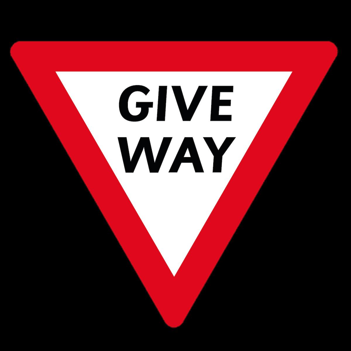 Playground Marking Give Way