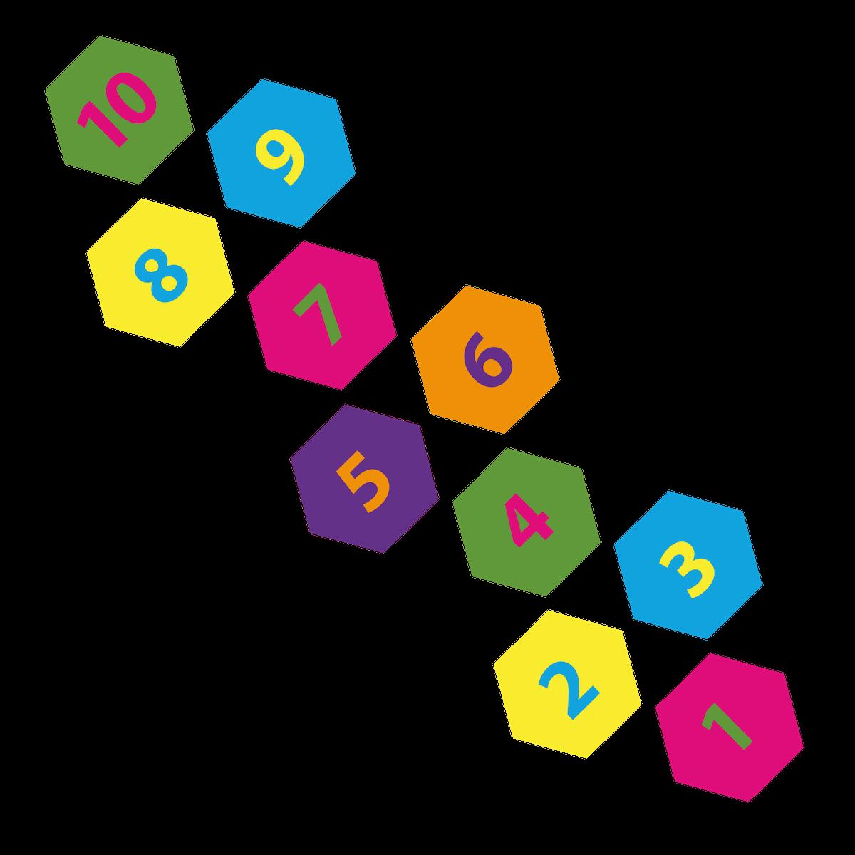 Playground Marking Hexagon Hopscotch
