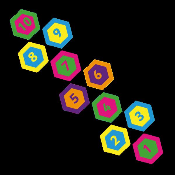 Playground-Marking-Hexagon-Twin-Hopscotch-300mm