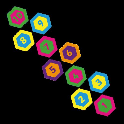 Playground-Marking-Hexagon-Twin-Hopscotch-400mm