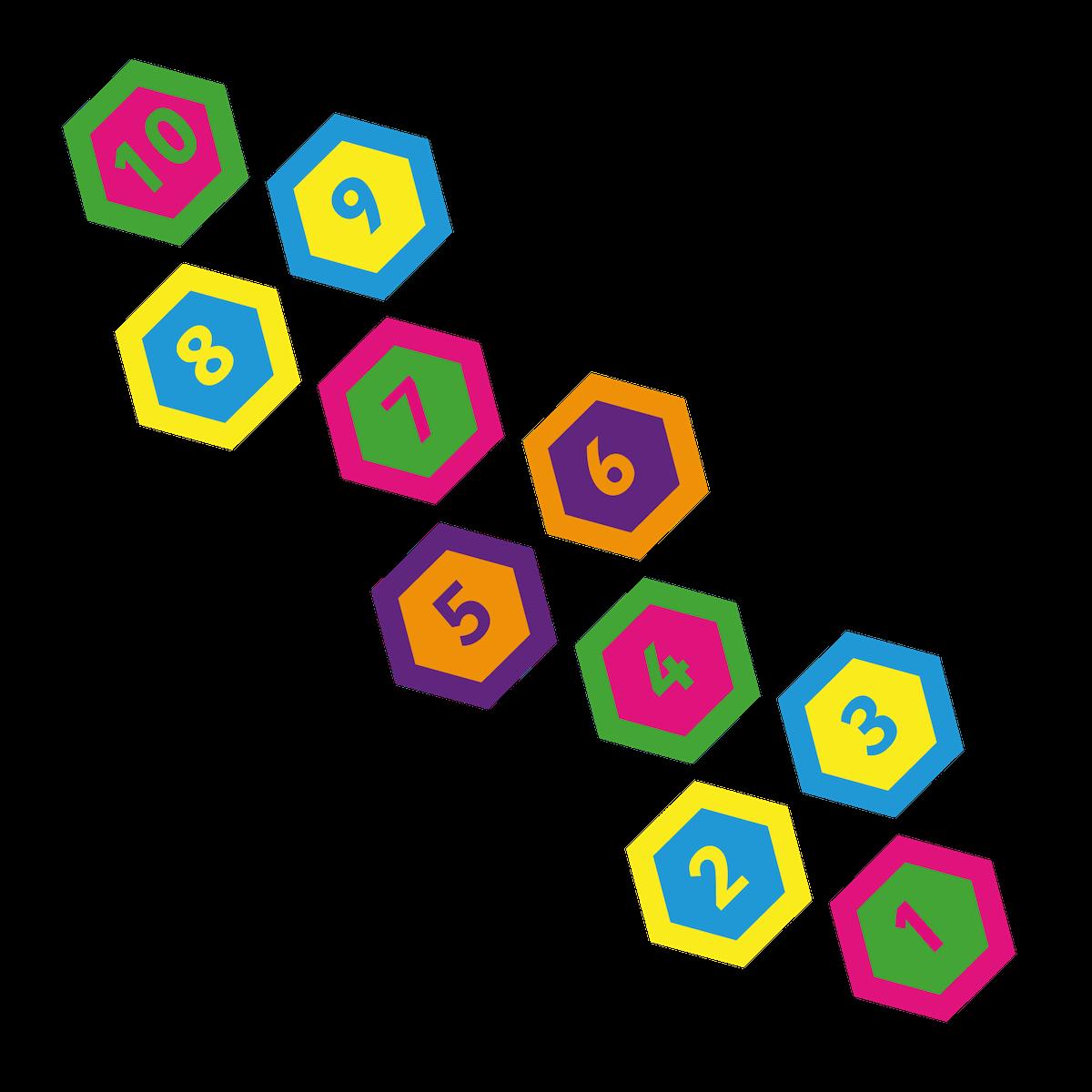 Playground Marking Hexagon Twin Hopscotch 400mm