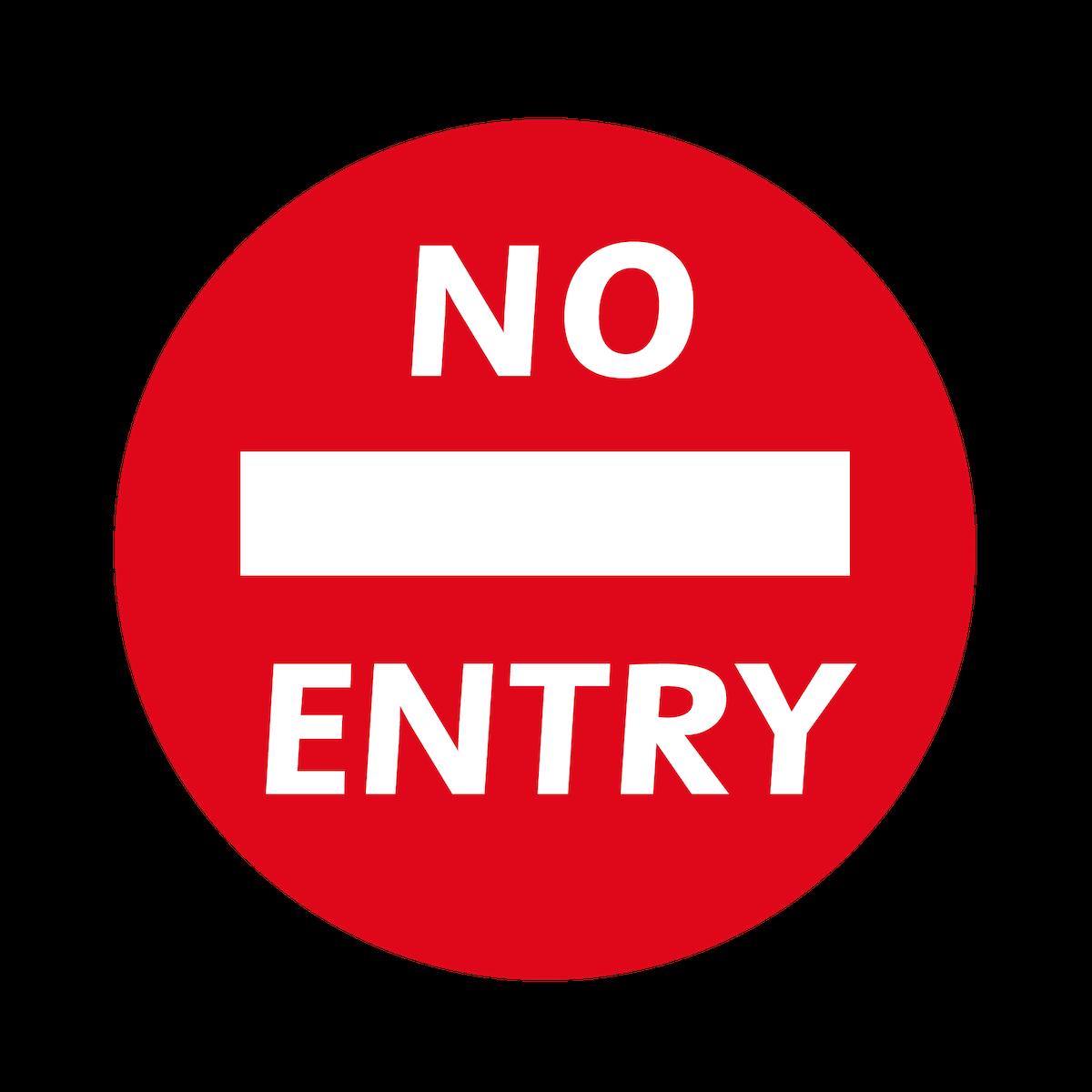 Playground Marking No Entry