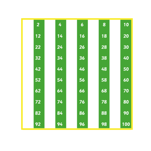 Playground Marking Number Grid 1-100 Evens