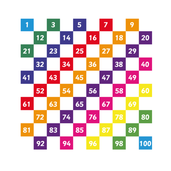 Number Grid 1-100 Every Other Playground Marking