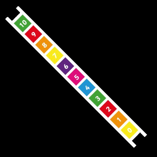 Number Ladder 0-10 Solid