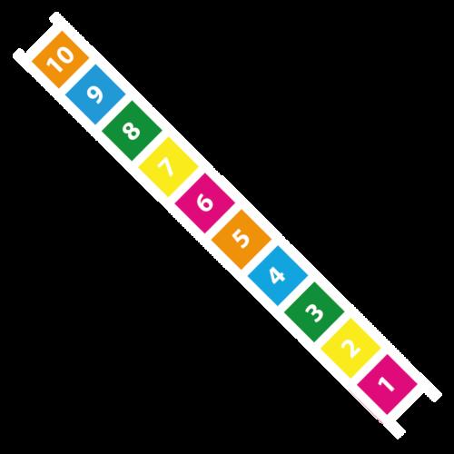 Playground-Marking-Number-Ladder-0-10-Solid
