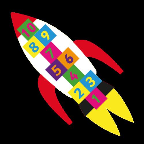 Playground-Marking-Rocket-Hopscotch