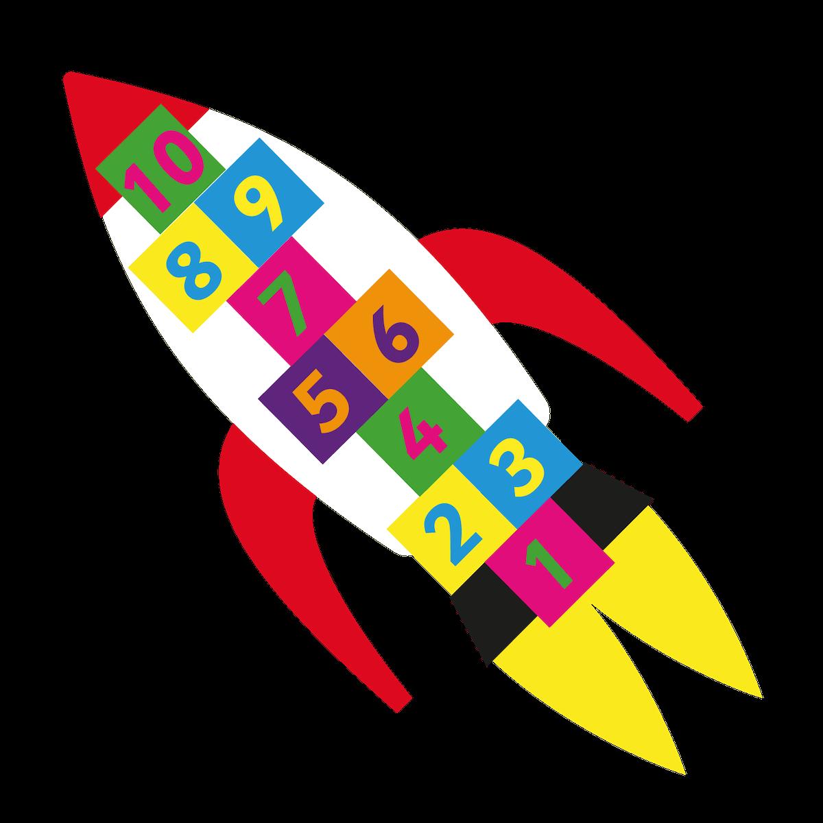 Playground Marking Rocket Hopscotch