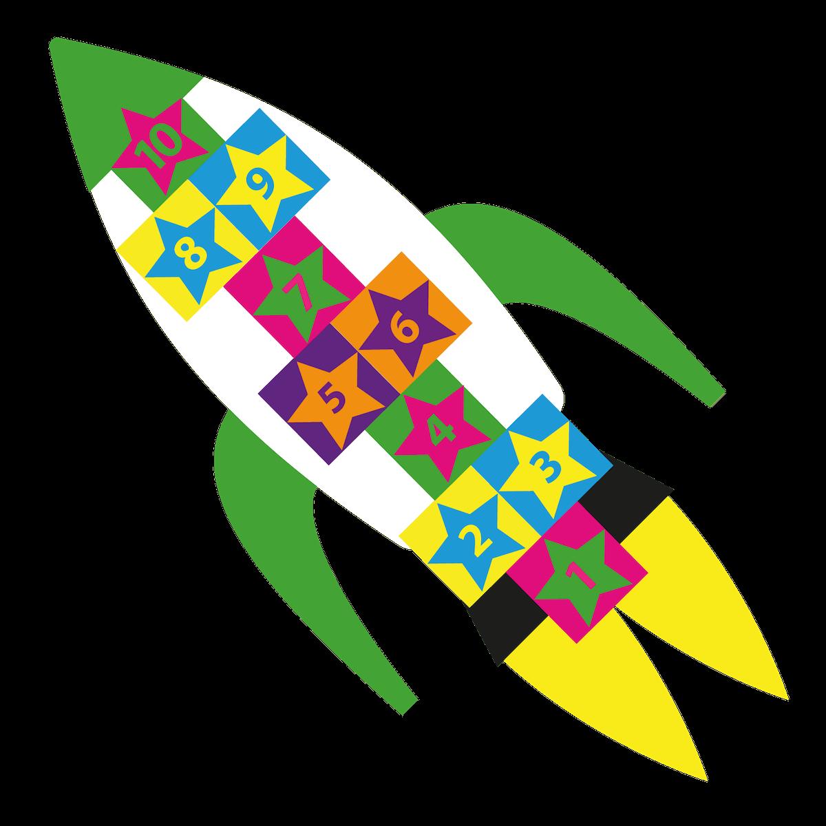 Playground Marking Rocket Twin Hopscotch