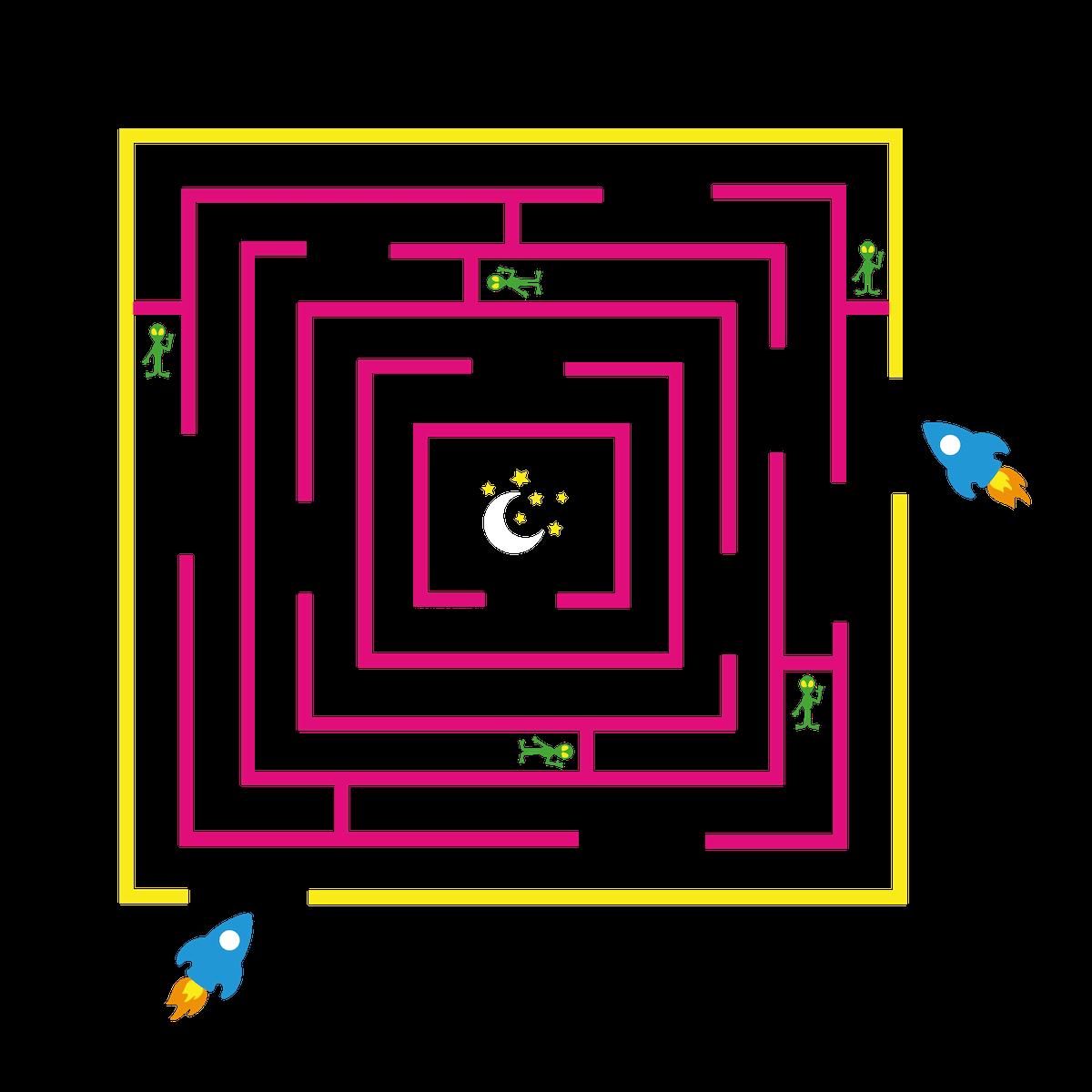 Playground Marking Space Maze