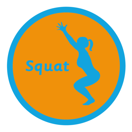 Playground Marking Squat Solid Active Spot