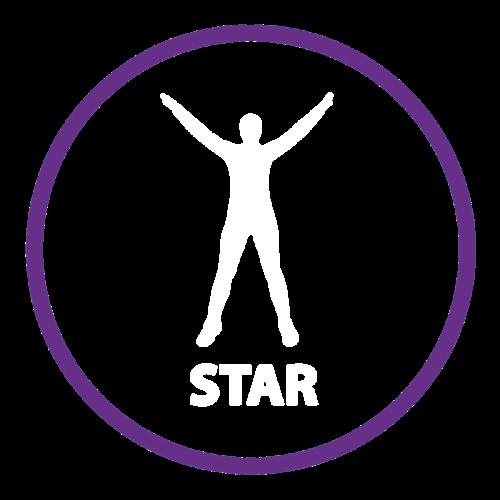 Playground Marking Star Outline Active Spot