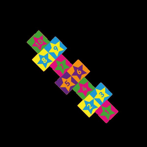 Playground-Marking-Star-Twin-Hopscotch-300mm